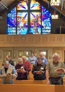 chapel men stainglass